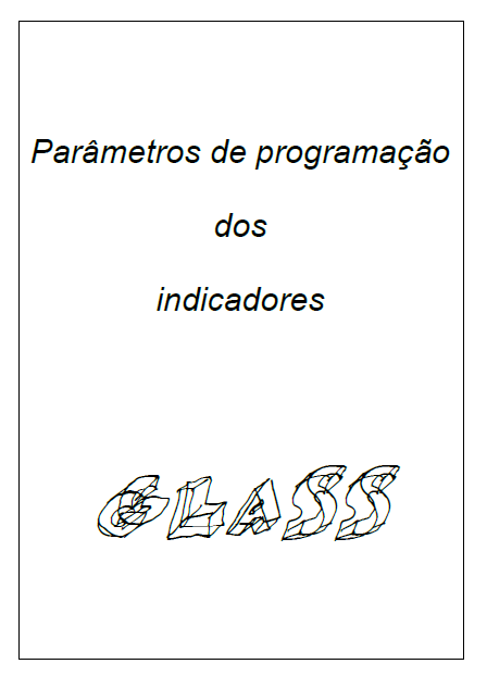 [Parâmetros de programação indicador Glass]