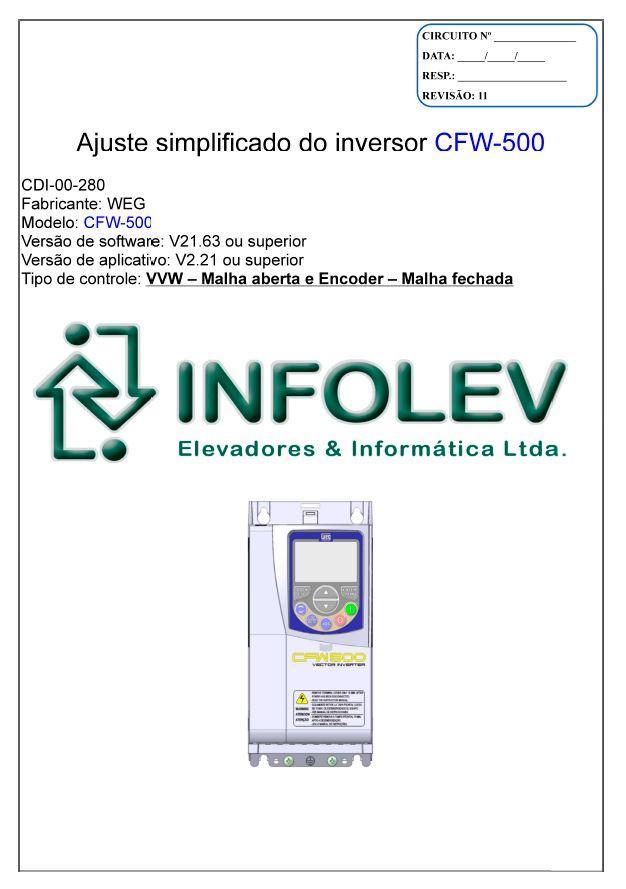 [Ajuste simplificado do inversor CFW500]